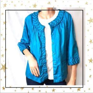 Simply Chloe Dao Women's Cropped Blue jacket (A5)